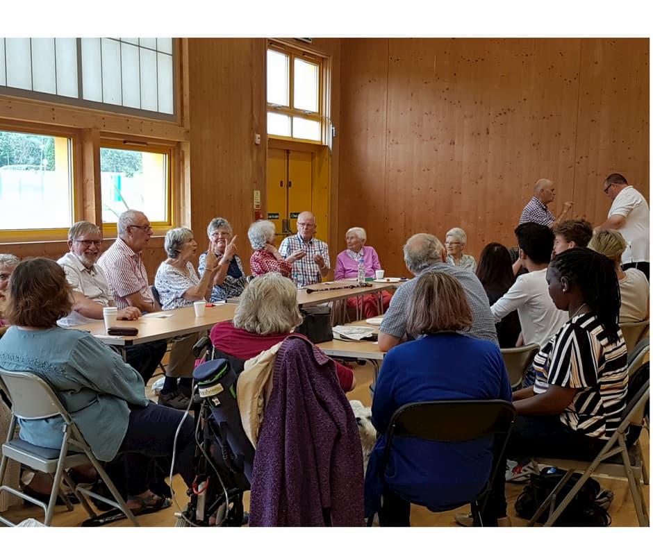 Deaf community meeting in Milton Keynes at Access Ambassadors base