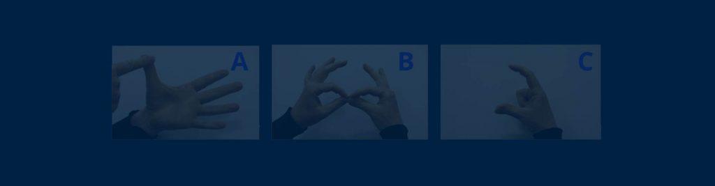 Fingerspelling a b c