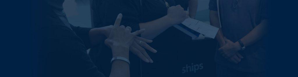 close up of interpreters hands