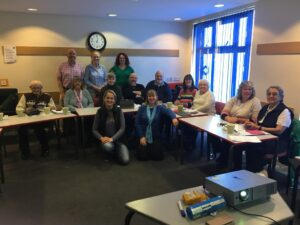 image of milton keynes deaf community group learning about technology